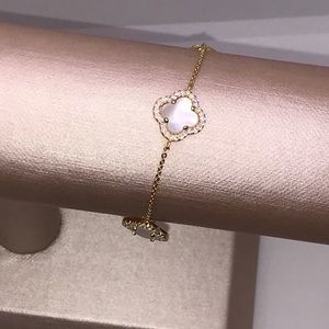 18k GP Mother of Pearl Bracelet